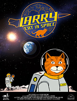 Larry Cat in Space Cartoon